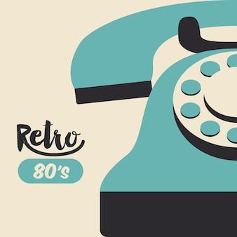 Retro telephone  poster isolated icon design