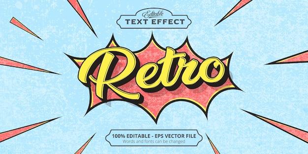 Retro text, editable text effect