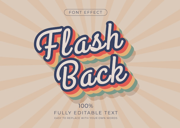 Retro text effect. editable font style