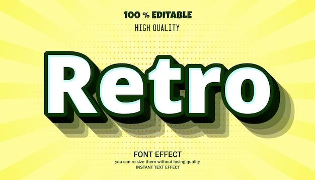 레트로 텍스트 효과. 편집 가능한 글꼴