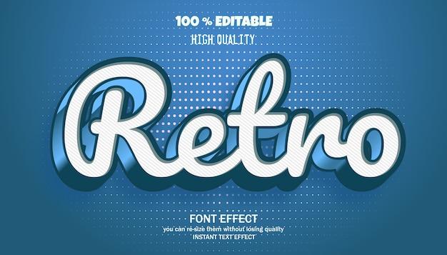 Retro text effect, editable font