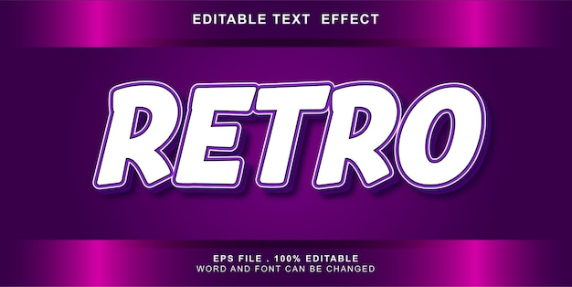Retro text effect editable