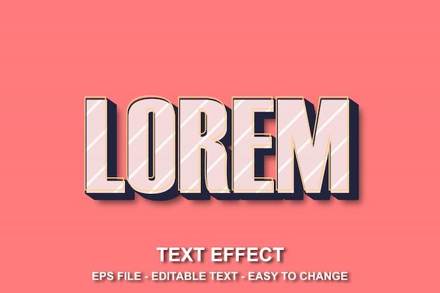 Retro text effect pop art style