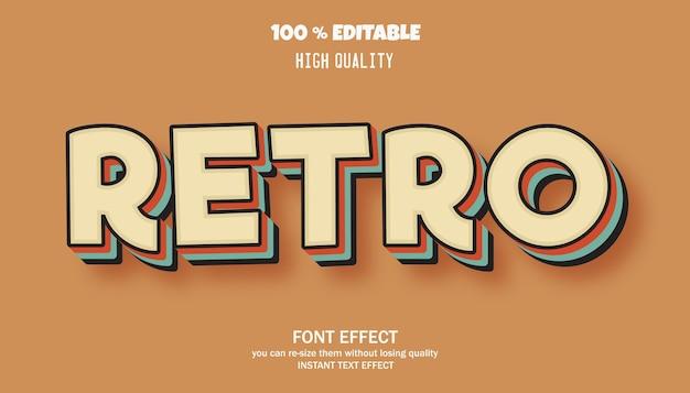 Retro text effect, trendy text style