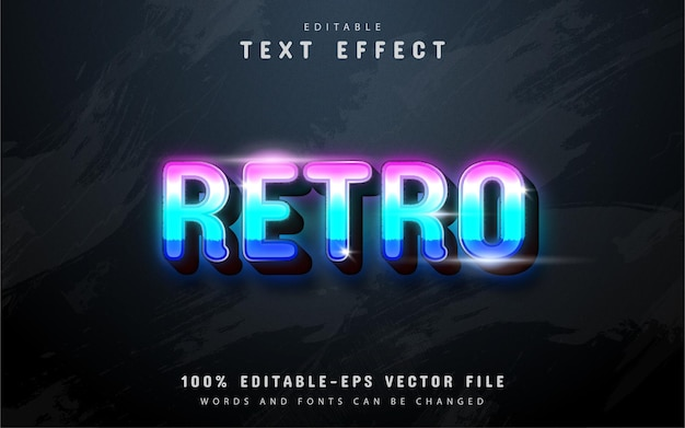 Эффект ретро текста