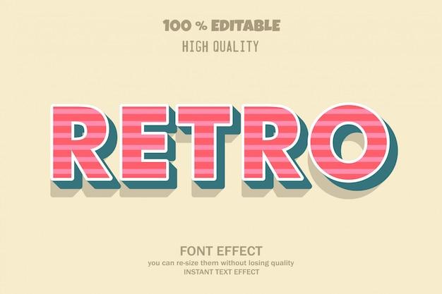 Retro text,  font effect