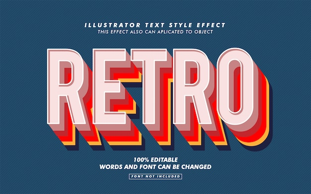 Retro text style effect mockup