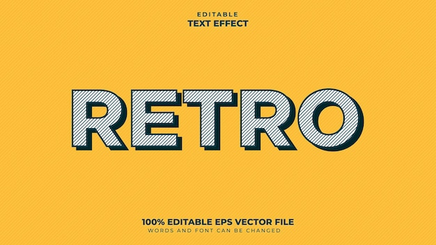 Retro text style effect