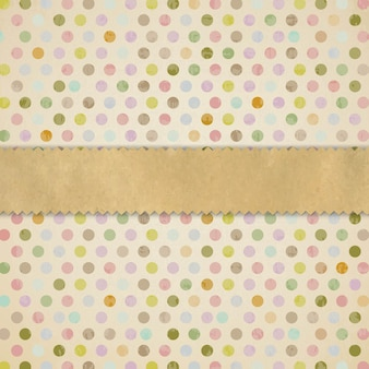 Retro texture with paper ribbon