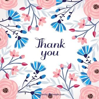 レトロ花の背景ありがとう