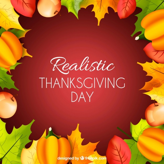 Retro thanksgiving background with natural elements