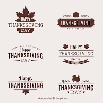Retro thanksgiving stickers pack