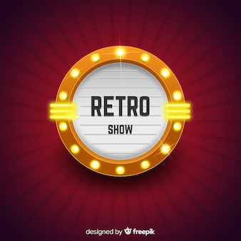 Retro Theatre Sign Background