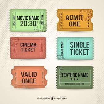 레트로 티켓 컬렉션