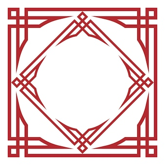 Retro traditional ornament frame for festival decoration