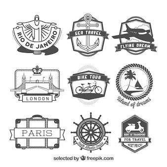 Retro badge di viaggio
