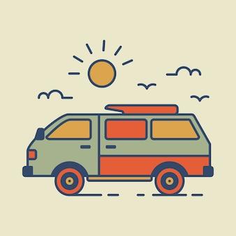 レトロな旅行バン