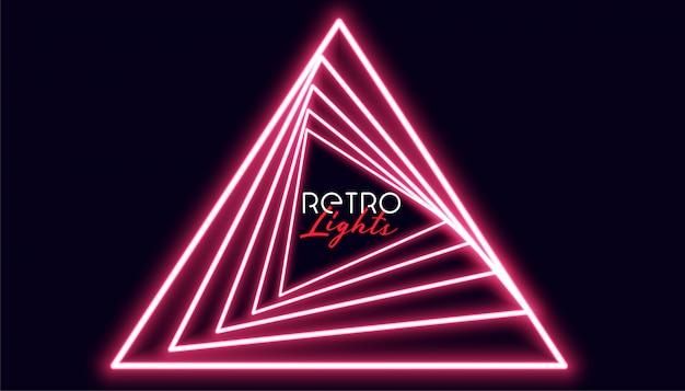 Retro triangle nelights geometric background