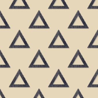 レトロな三角形のパターン、80年代、90年代のスタイルの抽象的な幾何学的な背景。幾何学的な簡単な図