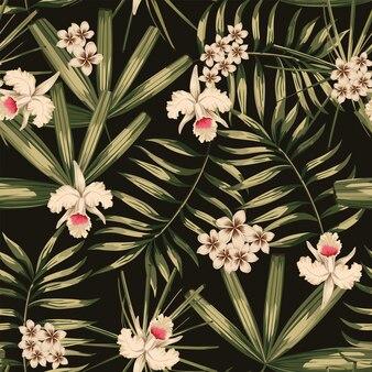 Retro tropical seamless pattern