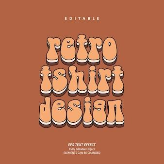 복고풍 티셔츠 디자인 개인화 된 빈티지 텍스트 효과 편집 가능한 프리미엄 프리미엄 벡터