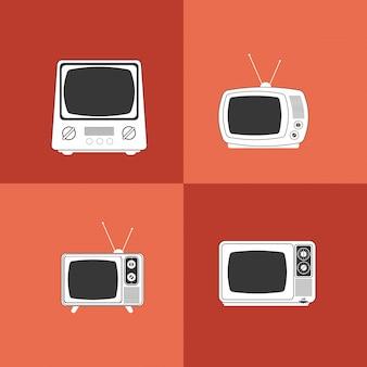 Retro tv emblem image