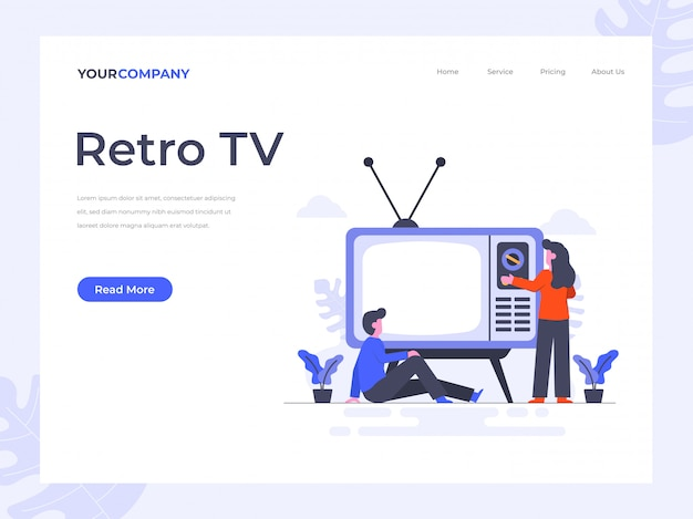 Retro tv landing page