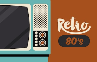 Retro tv  poster isolated icon design