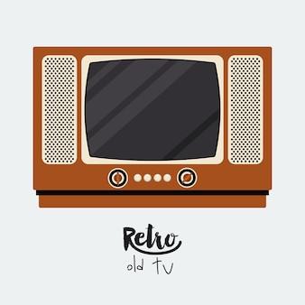レトロテレビポスターは、アイコンのデザインを分離