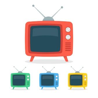 레트로 tv 세트