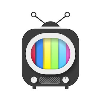 Retro tv with color screen vector illustration
