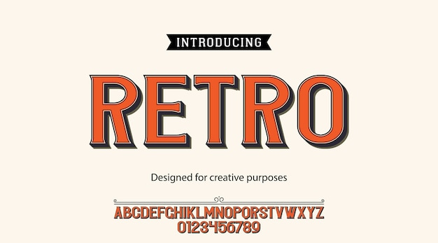 Retro typeface. for creative purposes