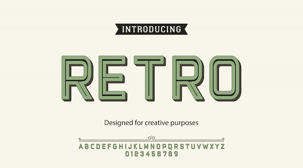 Retro typeface. for labels and different type designs