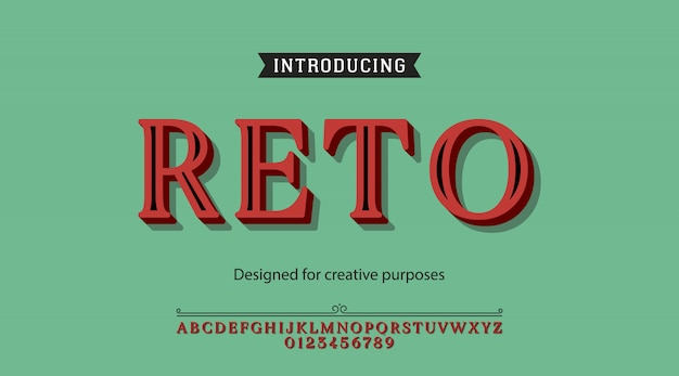 Retro typeface.for labels and different type designs