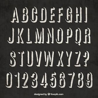Retro typography on blackboard