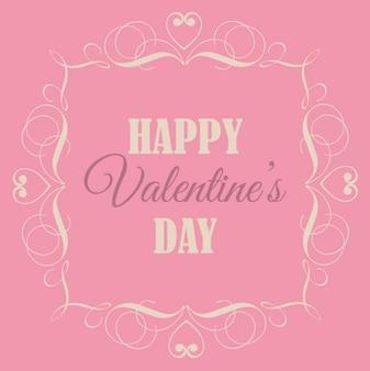 レトロなバレンタインの日、ピンクの背景