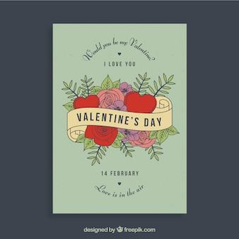 Retro valentine flyer design