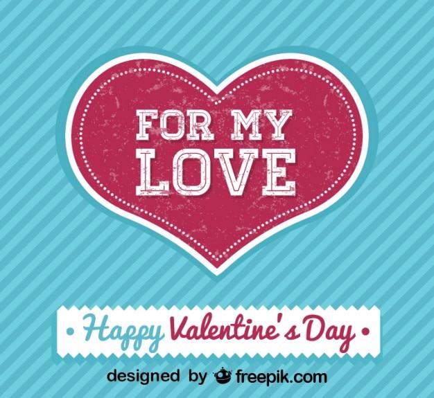 Scheda di san valentino retrò giorno per il mio amore