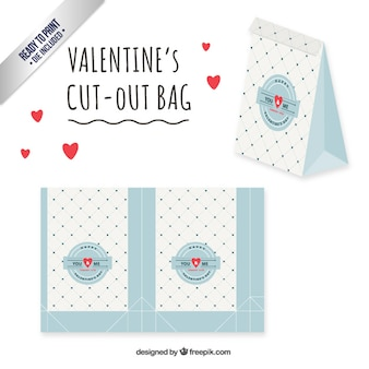 Retro valentines day bag