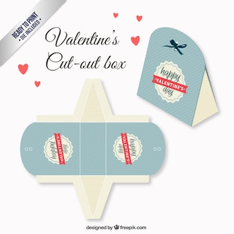 Retro valentines day box