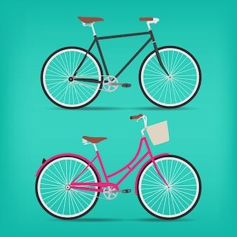 Retro vector bicycle