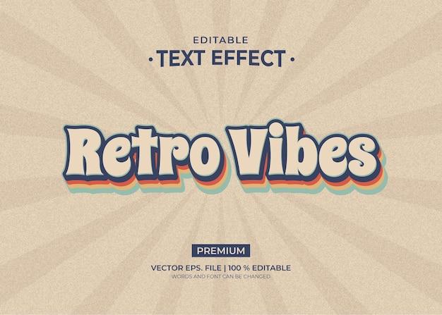 Retro vibes 편집 가능한 텍스트 효과