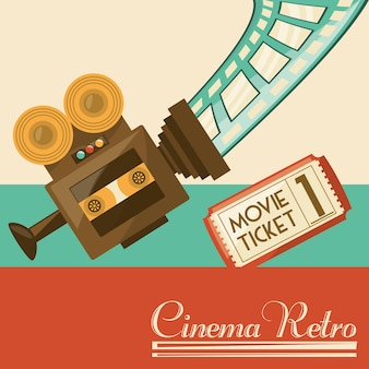 Retro video camera short film