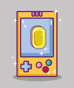 Retro videogame console cartoons
