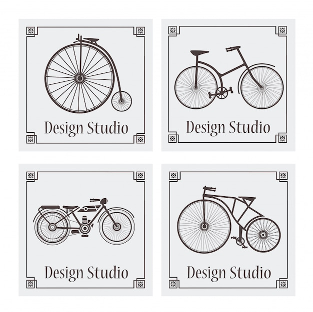 Retro vintage bicycle pattern