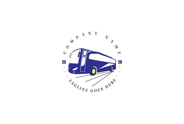 レトロなヴィンテージバス車輸送輸送ロゴデザインベクトル