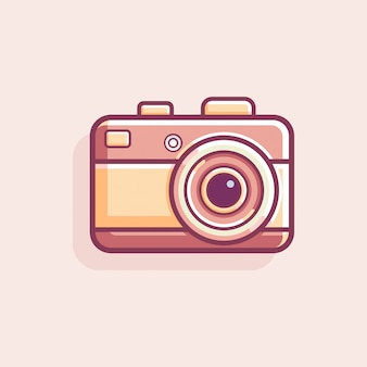 Retro vintage camera vector illustration