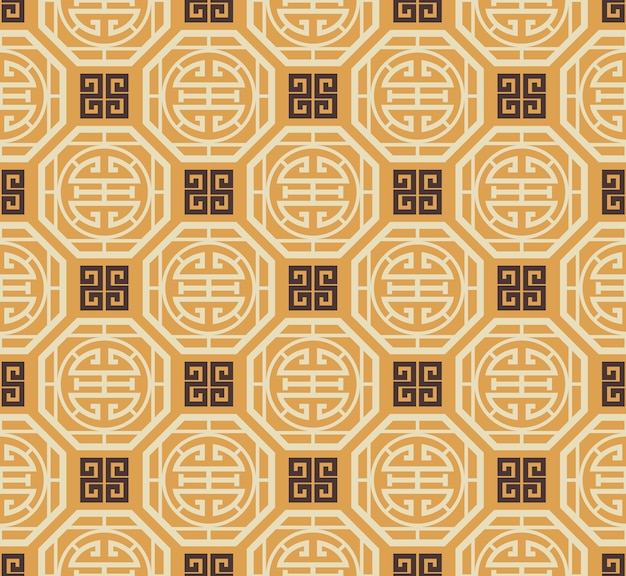 Retro vintage chinese traditional pattern seamless background