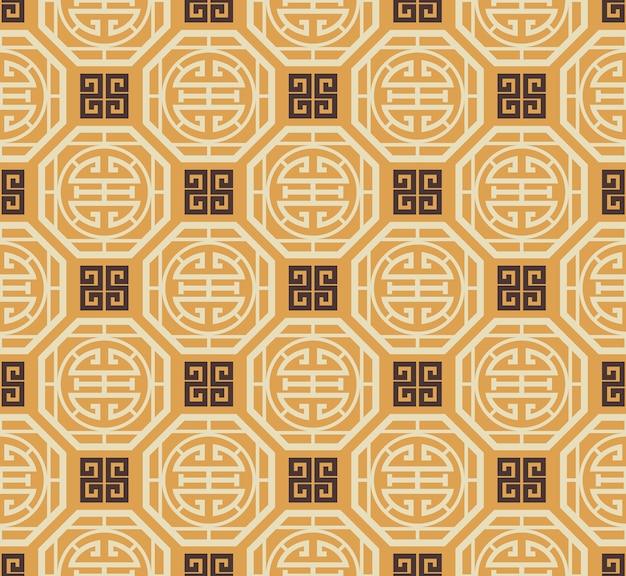 Ретро винтаж китайский традиционный узор бесшовный фон
