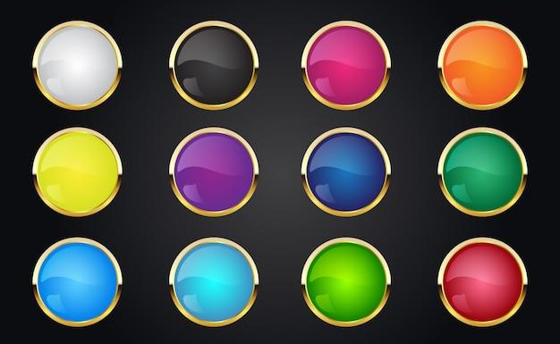 Retro vintage colorful button